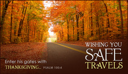 Enter his gates with 