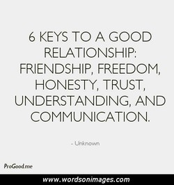 6 KEYS TO A GOOD 