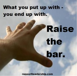 What you put up with - 