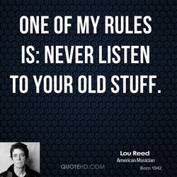 ONE OF MY RULES 