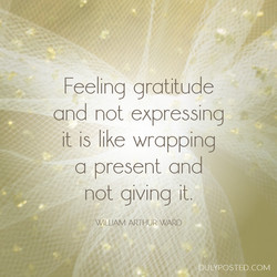Feeling gratitude 