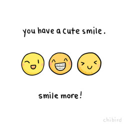 you have Q cute smile . coo smile more !