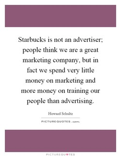Starbucks is not an advertiser; 