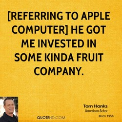 [REFERRING TO APPLE 