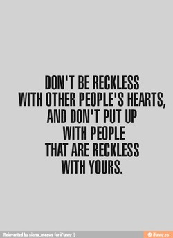 DON IT BE RECKLESS 