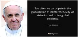 Too often we participate in the 
