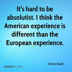 It's hard to be 