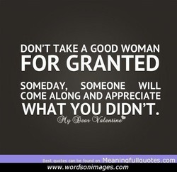 DON'T TAKE A GOOD WOMAN 
