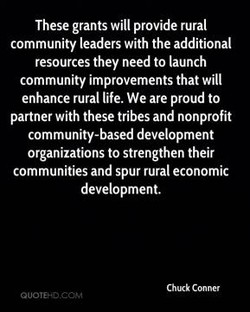These grants will provide rural 