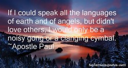 If I could speak all the languages 