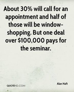 About 30% will call for an 