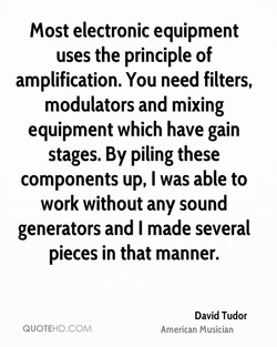 Most electronic equipment 