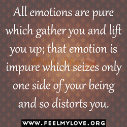 All emotions are pure 