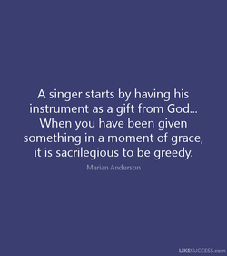 A singer starts by having his 