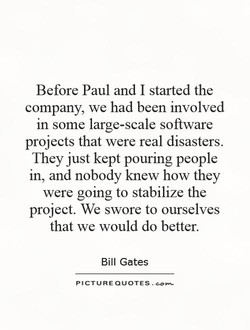 Before Paul and I started the 