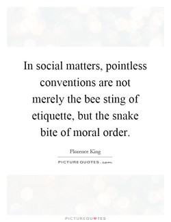 In social matters, pointless 
