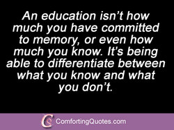 An education isn't how 