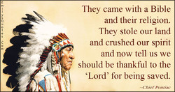 They came with a Bible 