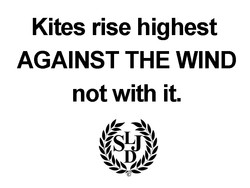 Kites rise highest 