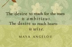 The desire to reach for the stars 