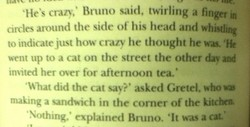 'He's crazy,' Bruno said, twirling a finger in 
