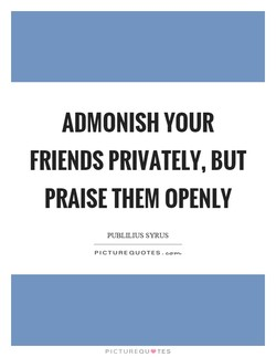 ADMONISH YOUR 