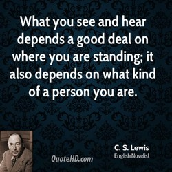 What you see and hear 