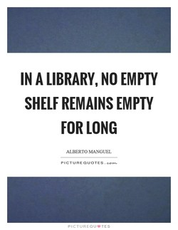 IN A LIBRARY, NO EMPTY 