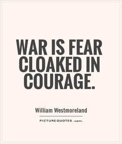 WAR IS FEAR 
