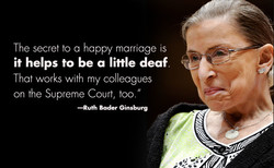 The secret to a happy marriage is 