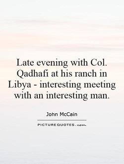 Late evening with Col. 
