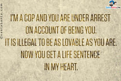 I'M A COP AND YOU ARE ARREST 