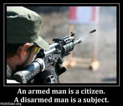 An armed man is a citizen. 