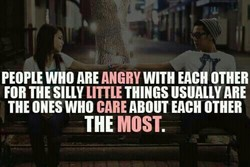 PEOPLE WHO ARE ANGRY WITH EACH OTHER 