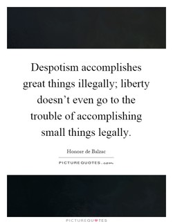 Despotism accomplishes 