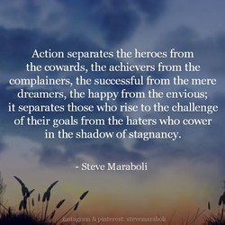 Action separates the heroes from 