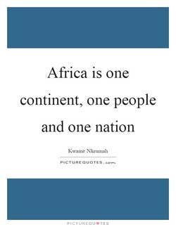 Africa is one 