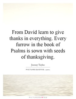 From David learn to give 