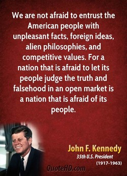 We are not afraid to entrust the 