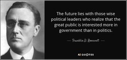 The future lies with those wise 