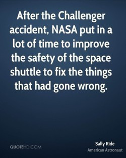 After the Challenger 