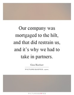 Our company was 