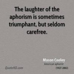 The laughter of the 
