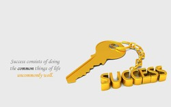 Success consists ofdoing 