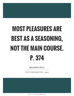 MOST PLEASURES ARE 