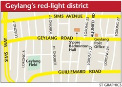 Geylang's red-light district 