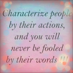 Characterize peop 