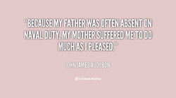 MY FATHERWAS oÉTÉN ABSÉNT ON 