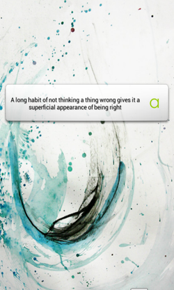 A long habit of not thinking a thing wrong gives it a 