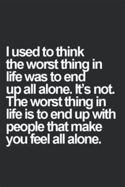 I used to think